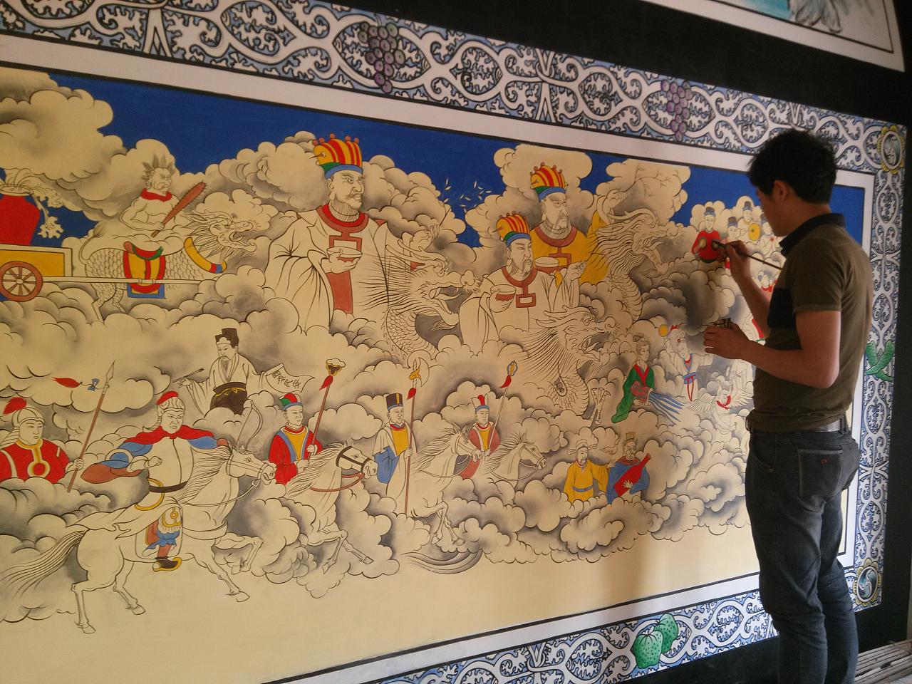 寺庙壁画,古建筑彩绘