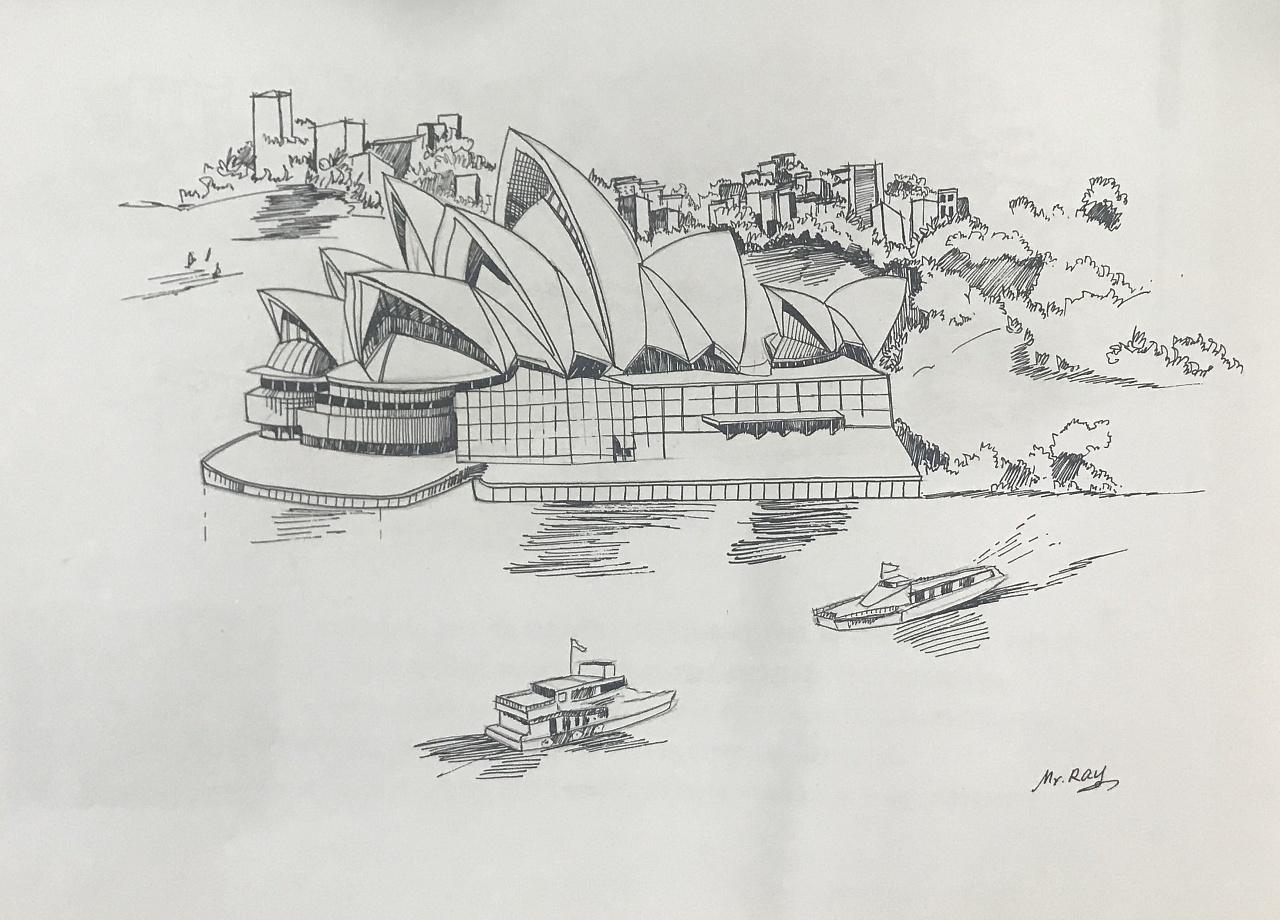 针管笔纯手绘,建筑系大学生求一波关注最近