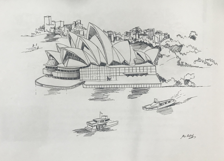 手绘_悉尼歌剧院