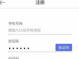 app登录注册页