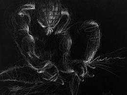 彩铅插画—蜘蛛侠