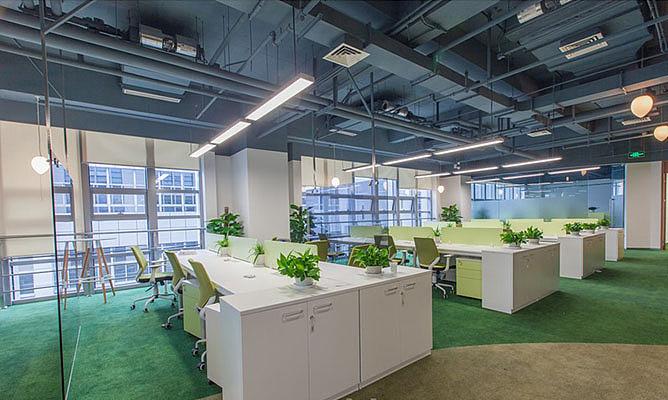 西安教育企业办公室装修设计图