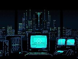 像素夜晚光影动画编辑测试