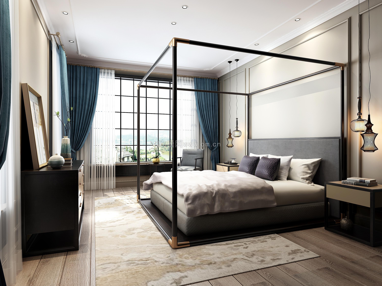 最新室内卧室3d效果图 |空间|室内设计|欧模网杏子