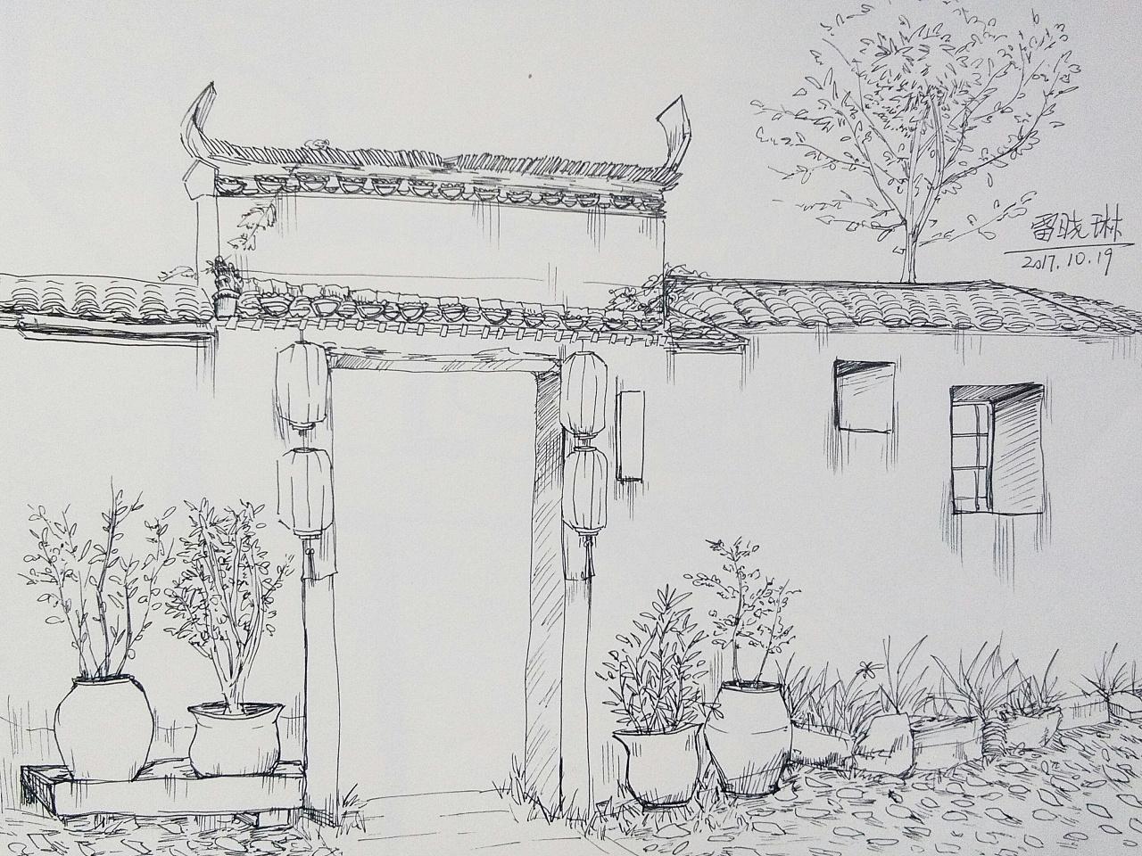 简笔画 手绘 素描 线稿 1280_960图片