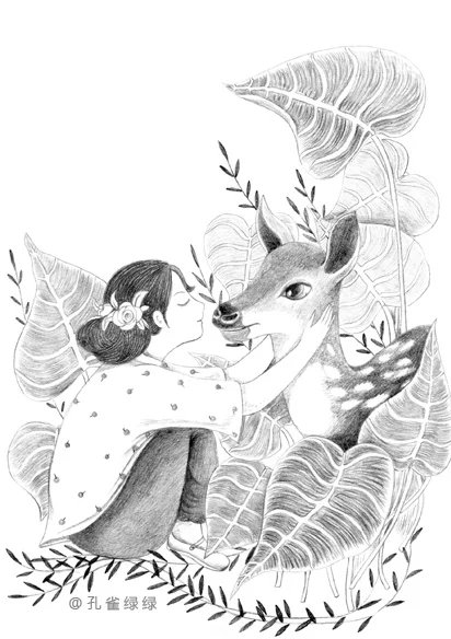 毛芦芦守望童心 封面 集 儿童插画 插画 孔雀绿
