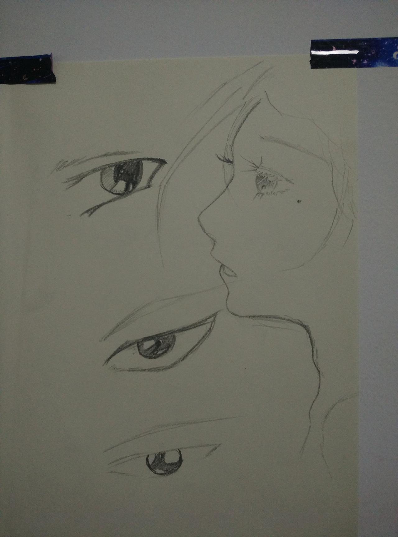 眼睛画法练习小手绘