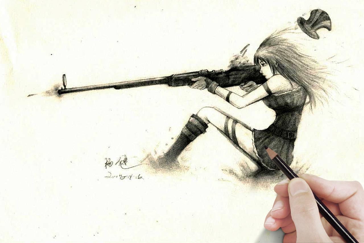 超高清壁纸手绘武器
