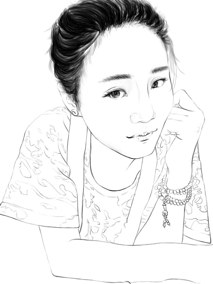 小美女的简笔画