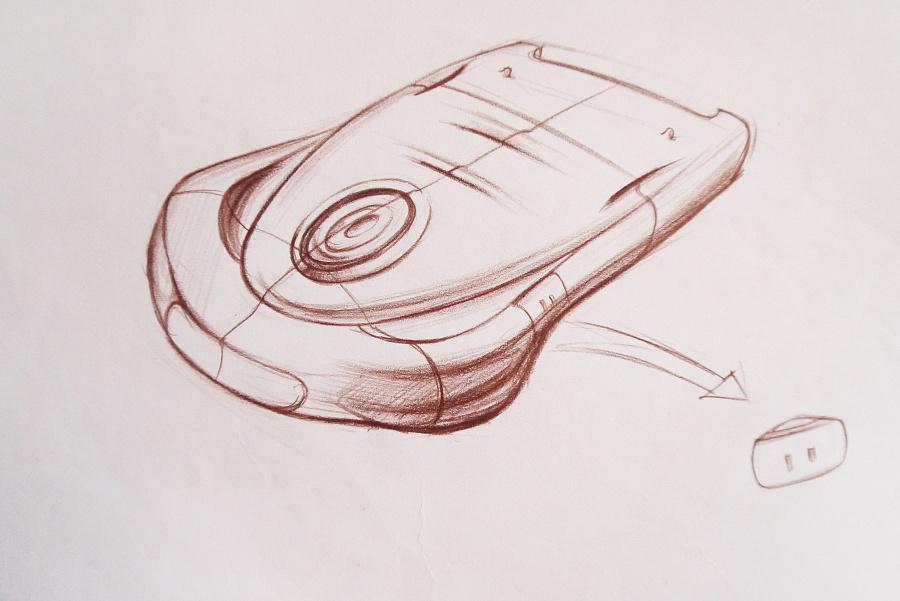 电子产品工业设计手绘分享展示
