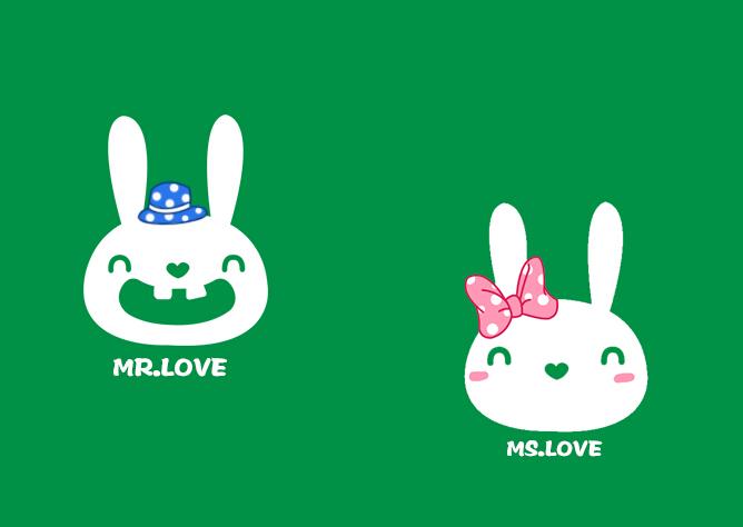 情侣小兔图片