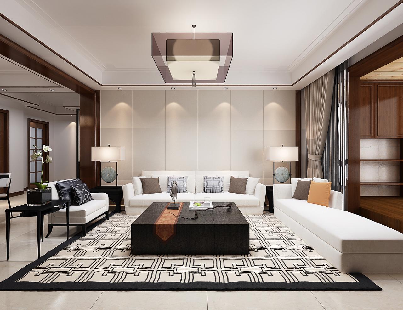 中式室内 空间 室内设计 鲆常 - 原创作品 - 站酷