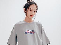 街头嘻哈oversize宽松T恤