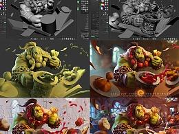3D辅助角色插画的流程分享
