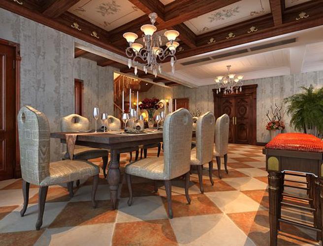 08平欧式新古典风格装修样板间|室内设计