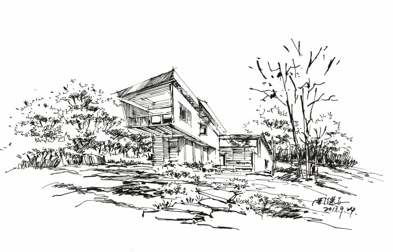 手绘建筑,手绘画,上色图片,建筑效果图,马克笔手绘,建筑设计,室内设计surfacepro适合平面设计图片