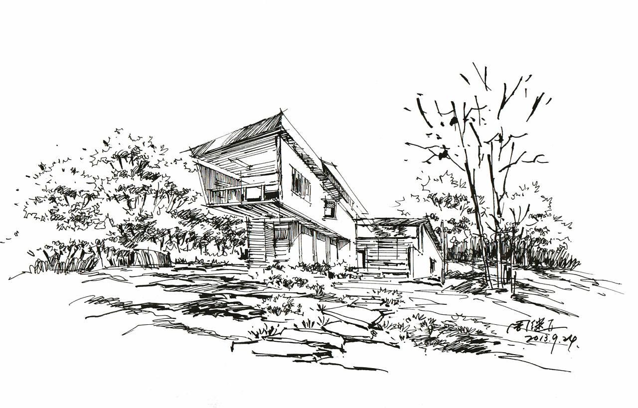 手绘图片,手绘效果图,马克笔上色,建筑设计,室内设计,风景园林,城市规