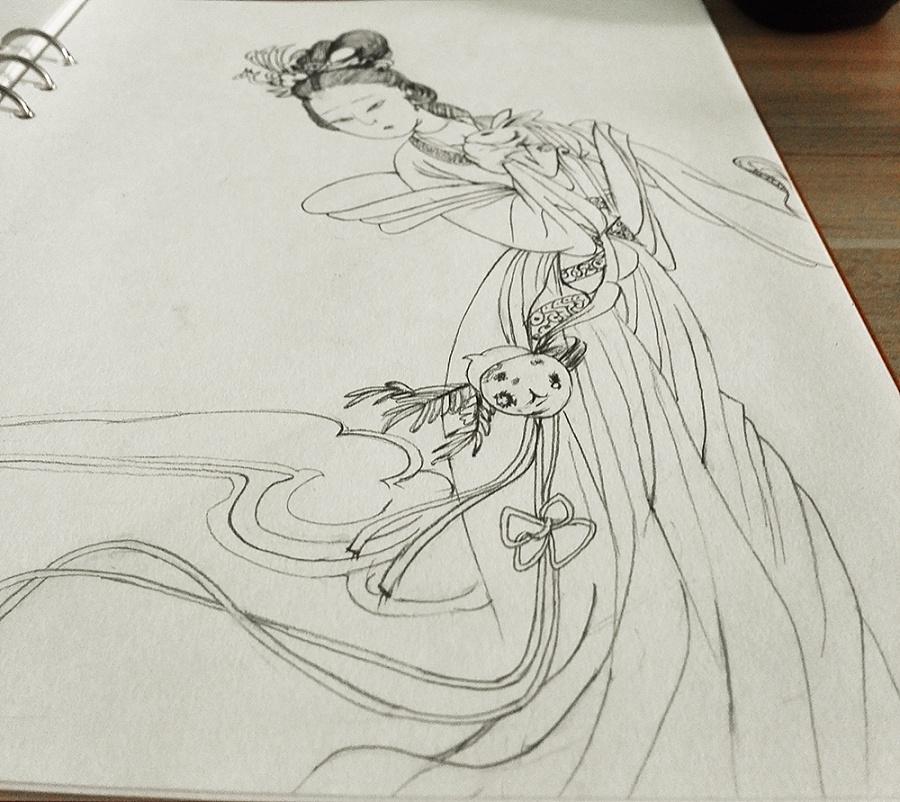 手绘临摹-白描|插画习作|插画|大木棉 - 原创设计作品