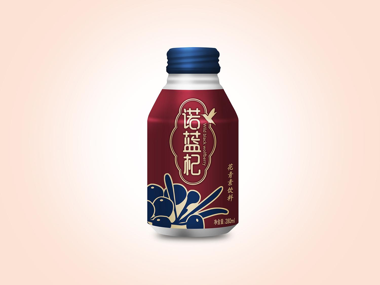 黑枸杞花青素饮料包装设计