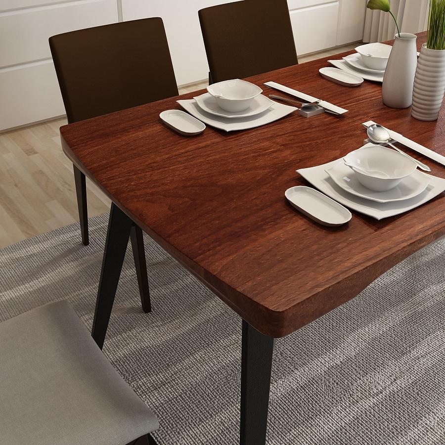 原创作品:北欧风情实木餐桌图片