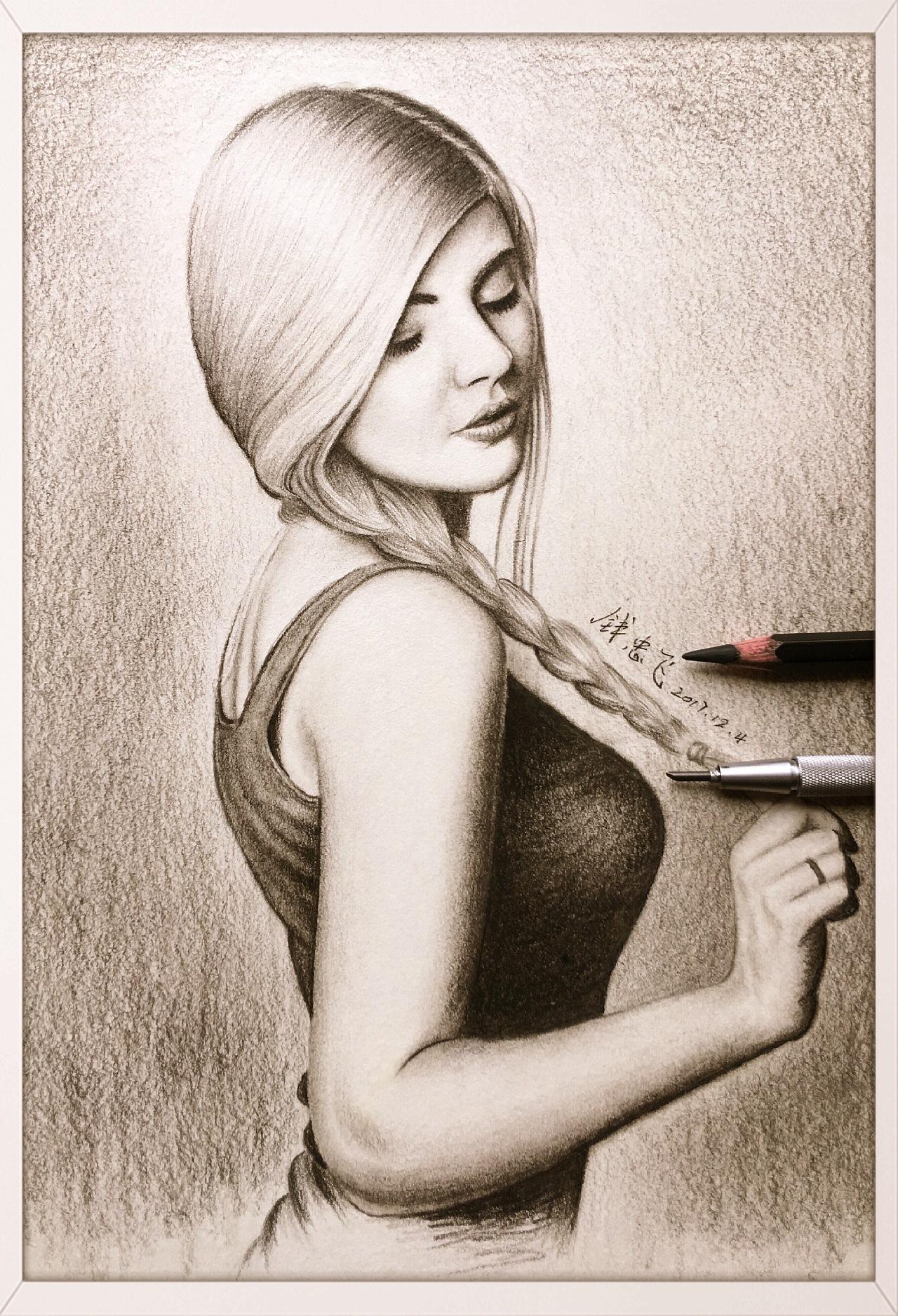 人物素描画