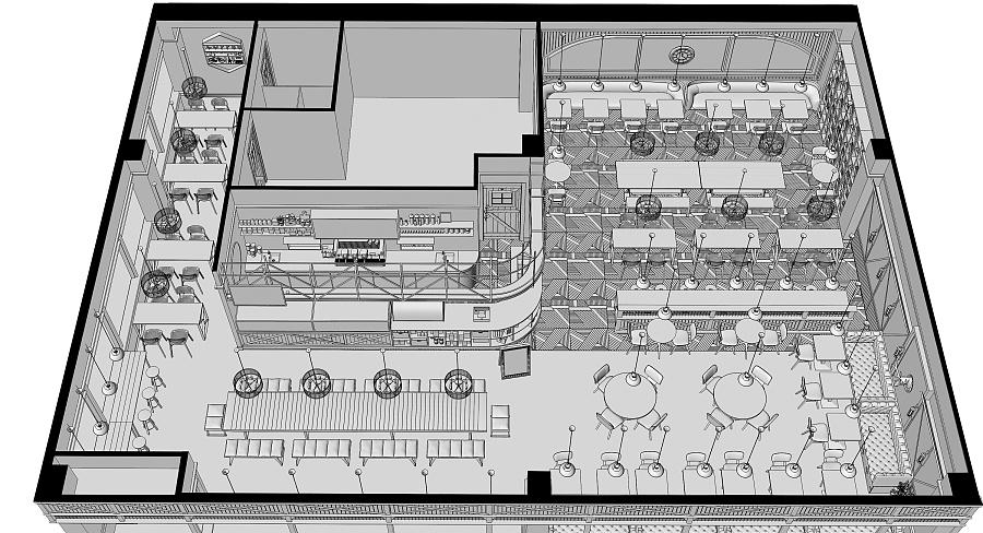 一个西餐厅~ 室内设计 空间 大mo王 - 原创设计作品图片