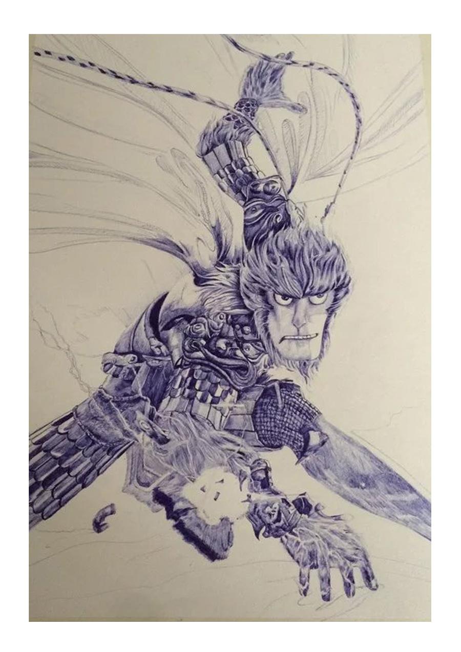 《大圣归来》海报手绘|其他绘画|插画|赶超韦爵爷