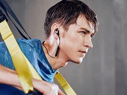 一组耳机产品生活场景摄影