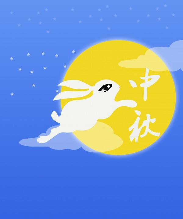 中秋玉兔简笔画-中秋节的玉兔