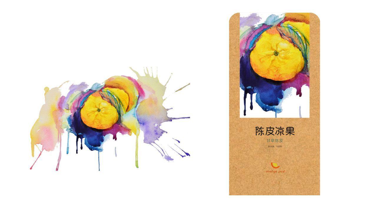 水彩手绘 插画 插画习作 抹茶冰淇淋_zt - 原创作品