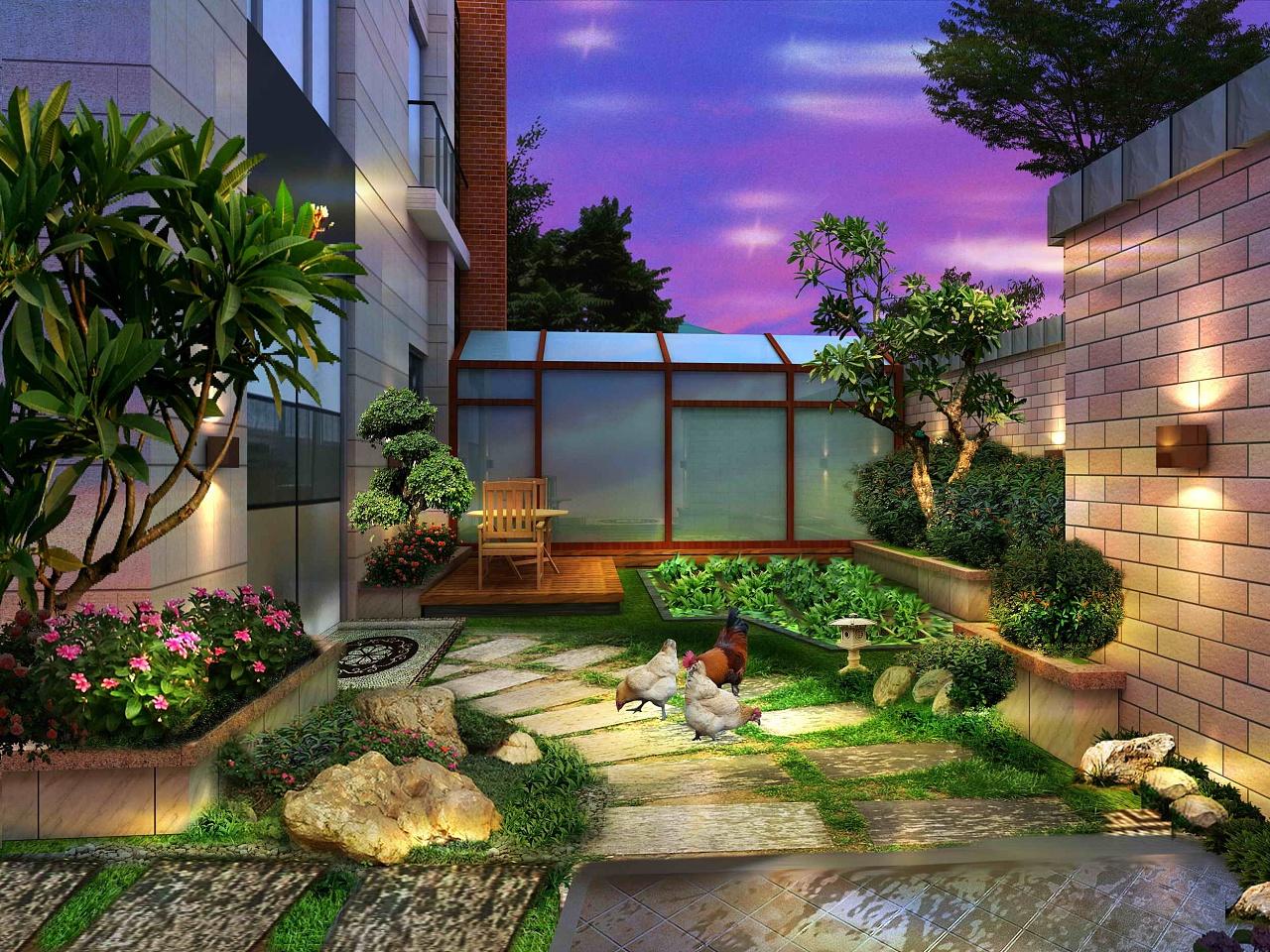 现代别墅庭院景观设计_成都园林、别墅庭院景观设计应该注意什么?装修更要注意什么 ...