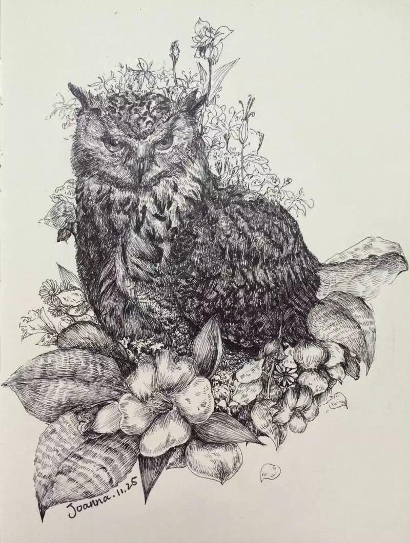 我心中的动物园|钢笔画|纯艺术|joannaneal - 原创