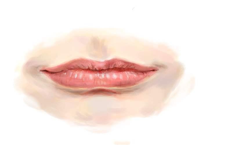 手绘板练习-嘴巴