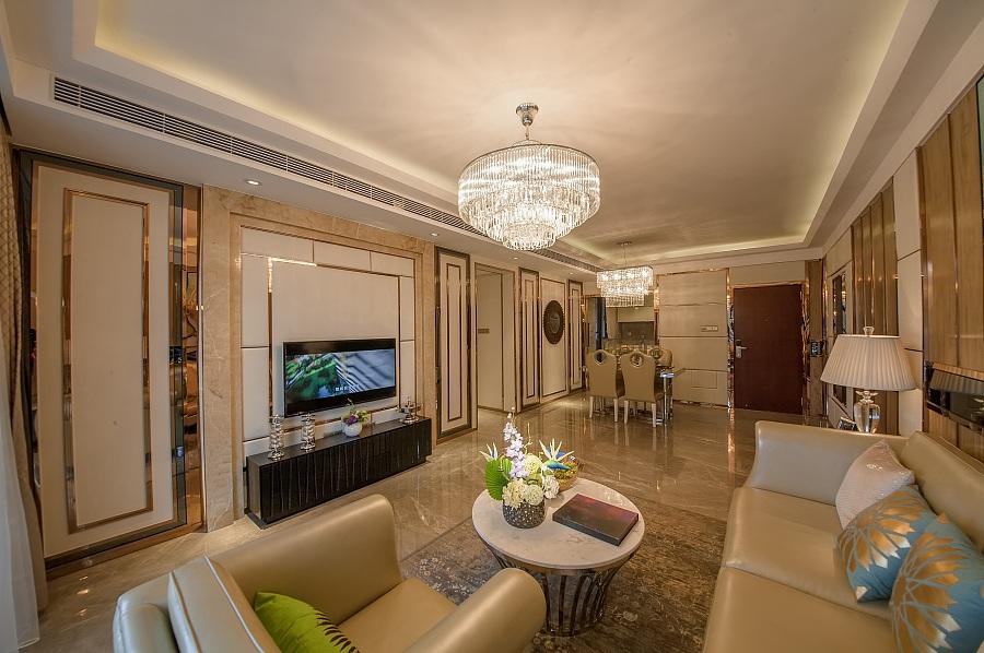 正商华钻120平三室两厅现代简约装修效果图