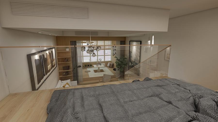 小户型的复式|室内设计|空间|本沐制造 - 原创设计图片