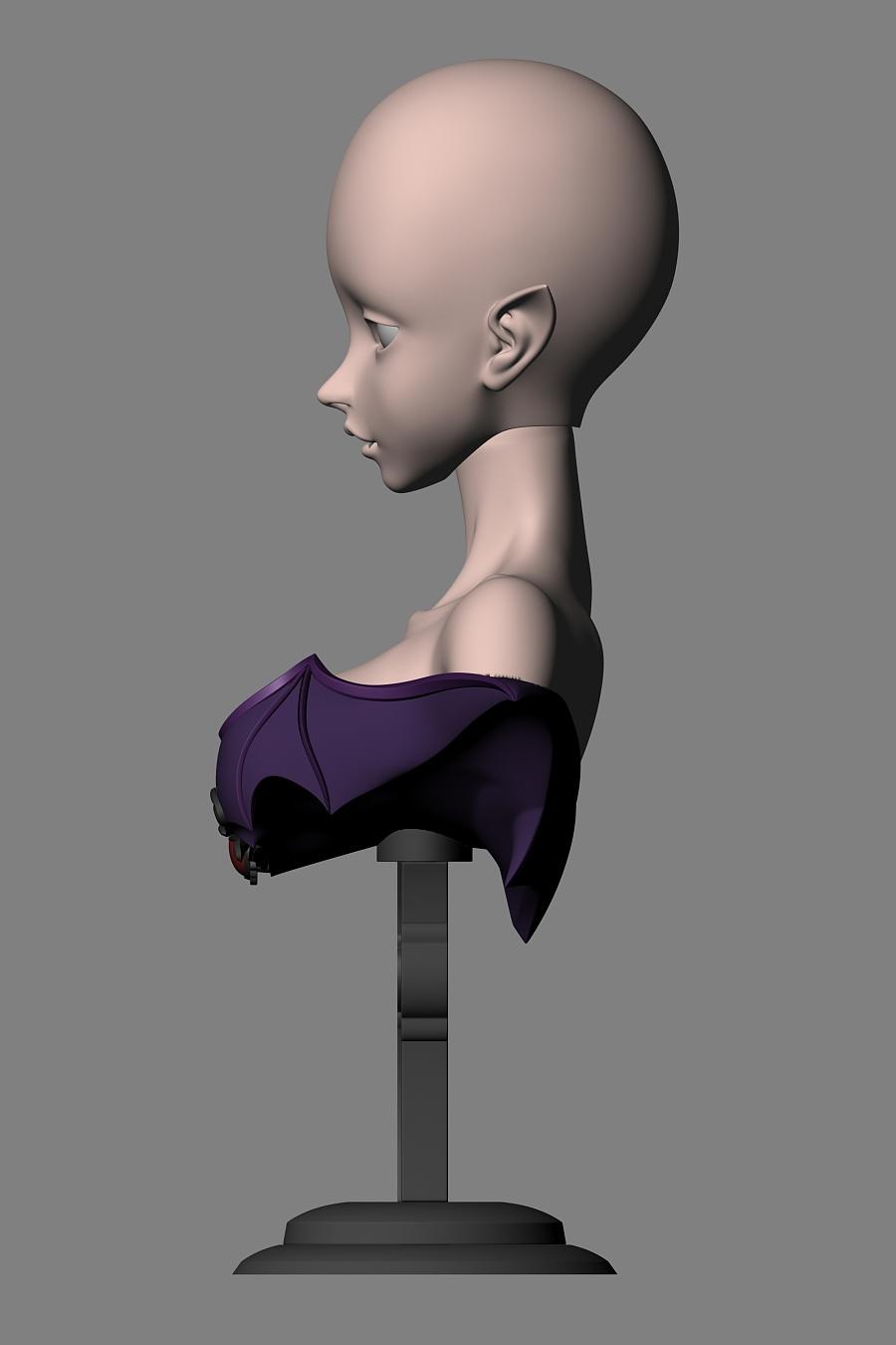 查看《吸血鬼 LISA 三分BJD娃娃 头雕&胸台 3D建模,3D打印原型制作》原图,原图尺寸:2000x3000