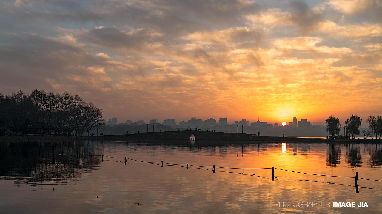 西湖_杭州 西湖 断桥日出 北山路风光摄影 |摄影|风光|JIA佳哥 - 原创 ...