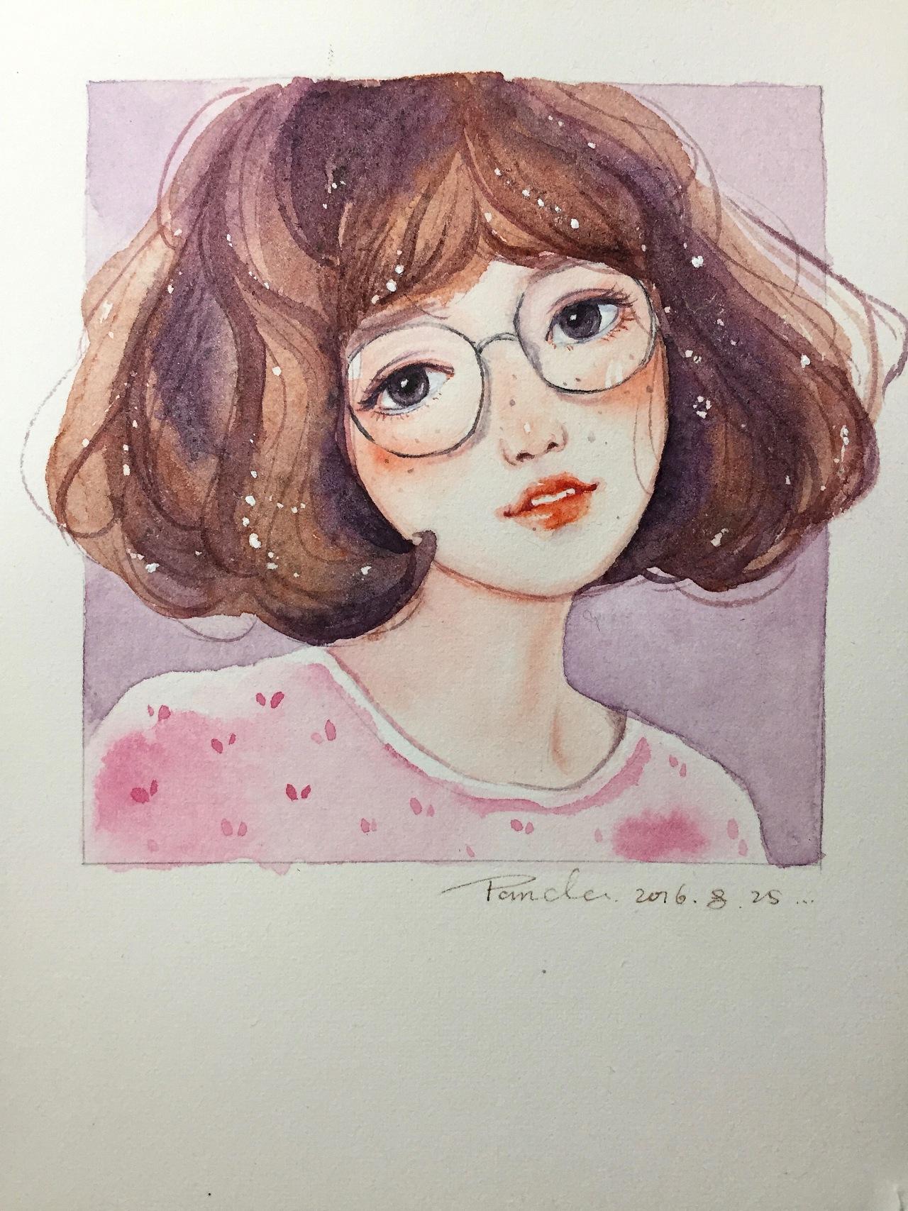 【小熊猫】水彩手绘人物水彩教程