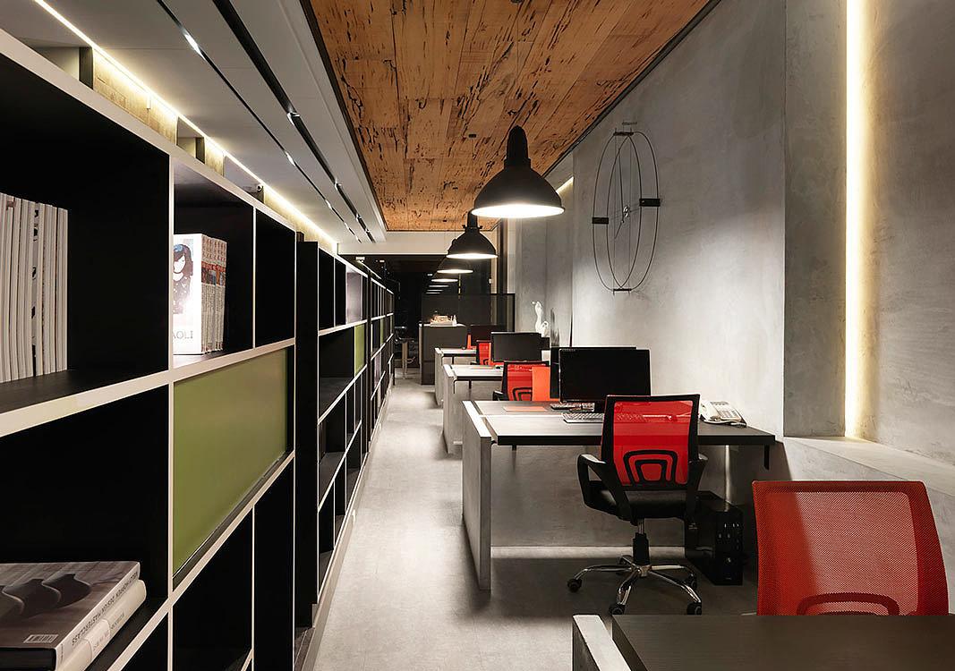 郑州现代工业风设计公司办公室装修设计图|空间|室内图片