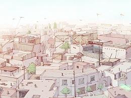 追风筝的喀什老城