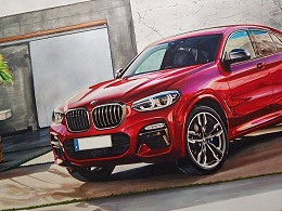 手绘全新BMW  X4