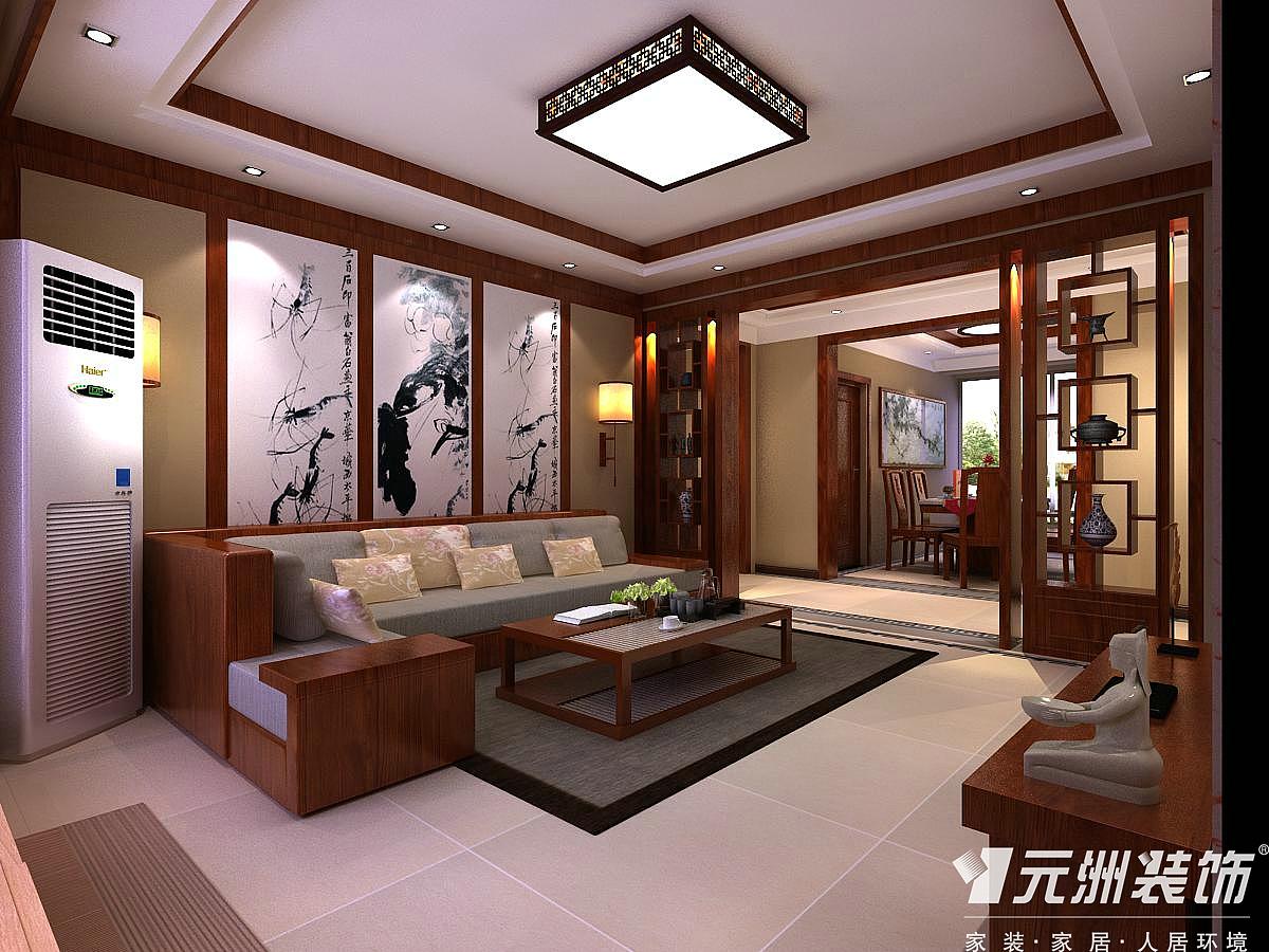 星河御城155中式风格效果图|空间|室内设计|肯定会很