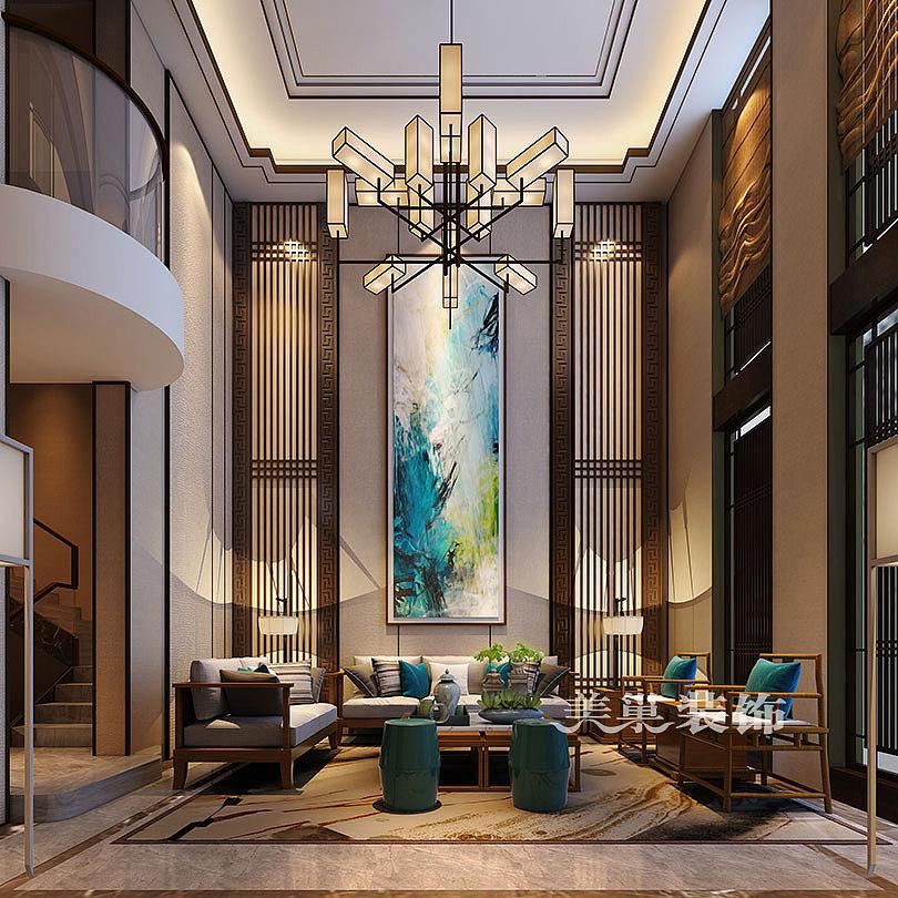 新中式家装效果图大全 别墅