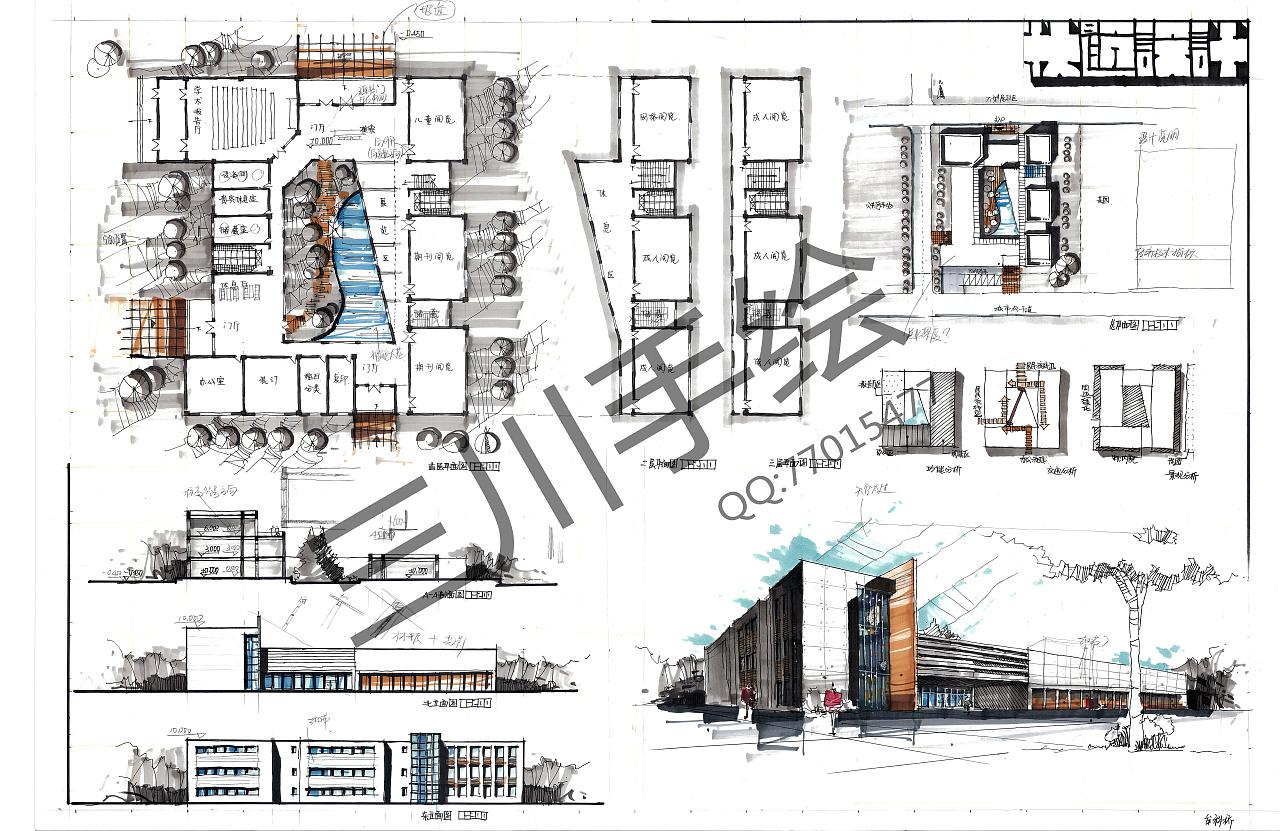 三川手绘快题设计|空间|建筑设计|三川手绘 - 原创