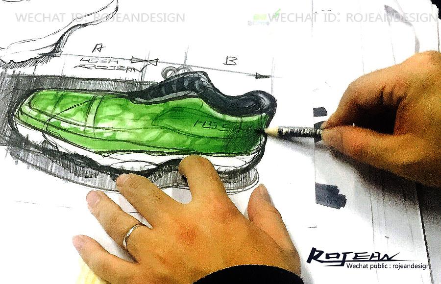 原创作品:运动鞋设计手绘过程