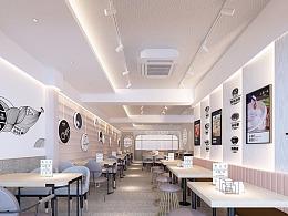 青岛店面连锁加盟餐饮装修设计快餐空间设计案例有平面设计的大专院校图片