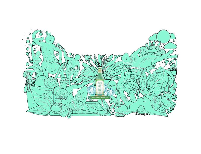 查看《#六神风味鸡尾酒#天猫活动海报插画》原图,原图尺寸:800x615