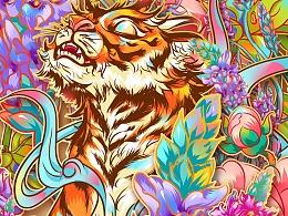 原画设计-猛虎蔷薇
