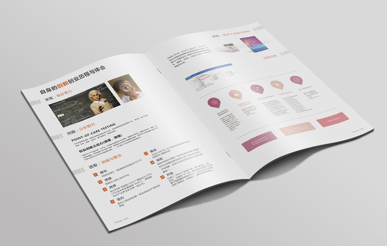 医药培训讲义 排版 企业画册 产品目录 dm catalog 简约大气图片