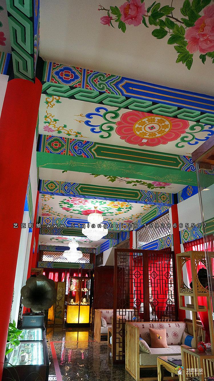 寺庙彩绘/彩画,传统彩绘,古镇古街彩绘,和玺彩绘,旋子彩绘,苏式彩绘图片
